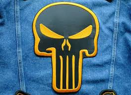 <b>Punisher skull patch</b>. Large skull back patches 6 size. <b>Embroidered</b> ...