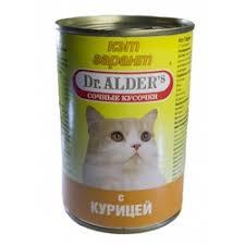 <b>Консервы Dr. Alder's Cat Garant</b> для взрослых кошек с курицей ...