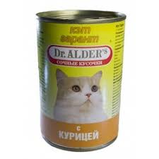 <b>Консервы Dr</b>. <b>Alder's</b> Cat <b>Garant</b> для взрослых кошек с курицей ...
