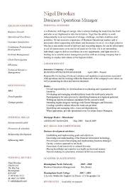 business operations manager resume examples cv templates samples business operations manager resume 1
