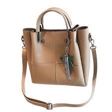 [ReadyStock] <b>Women 2 pcs</b>/<b>set</b> Handbags Tote Tassel <b>Women</b> Solid ...