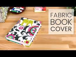 How to Make a <b>Fabric</b> Book Cover - YouTube