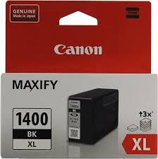 Оригинальный <b>картридж Canon PGI-1400XL</b> BK (с черными ...