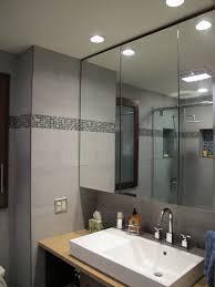 grey subway tile bathroom