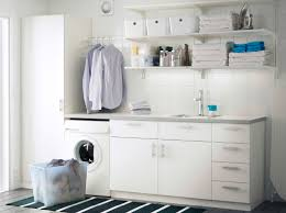 prepossessing home small laundry room algot white wall mounted storage solution