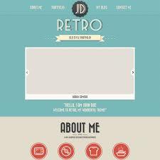 psd portfolio and resume website templates colorlib retro psd portfolio template