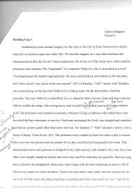 sample literary analysis essay