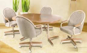 casual dining chairs with casters: ac ginapc  pc douglas casual living gina collection rounded corners shaped oak finish top