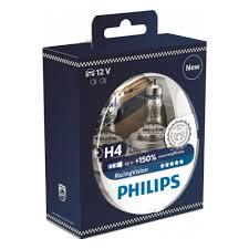 <b>Лампа</b> галогенная <b>PHILIPS Racing Vision</b> +150% H4 12V 60/55W ...
