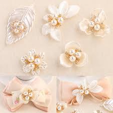 <b>Fashion</b> Rhinestone Pearl Flower & Leaf Charms For <b>Jewelry</b> ...