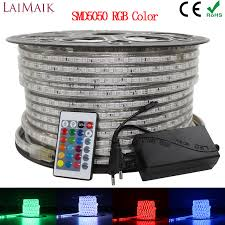 <b>LAIMAIK</b> RGB <b>LED Strip Light</b> 5050 Waterproof IP67 AC 220V rgb ...