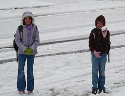 Image result for kids walking in snow photo
