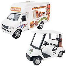 Amazon.com: <b>ZHENDUO</b> Pull Back Cars, Food Truck Vehicle Toy ...