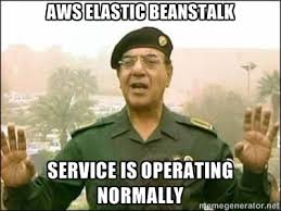 AWS Elastic Beanstalk Service is operating normally - Iraqi ... via Relatably.com