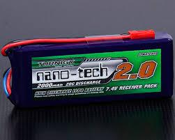 <b>Аккумулятор</b> Turnigy 7.4V <b>2000mAh</b> 2S1P 20~40C Lipo, <b>nano</b>-<b>tech</b> ...
