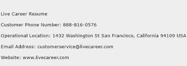 live career resume customer service phone number  toll   click here to view live career resume customer service phone numbers