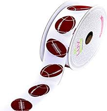 Creative Ideas GSO0708-FOT <b>Grosgrain</b> 7/8-Inch <b>Sports Ribbon</b>, 10 ...