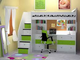 kids bedroom chic loft bed with desk underneath plans with green and white cor for bunk bed office space