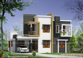 Box type modern house plan   Kerala home design and floor plansBox type modern house plan