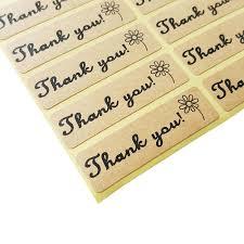 "100pcs/lot ""<b>Thank you</b>""<b>self adhesive</b> vintage stickers kraft <b>label</b> ..."