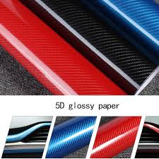<b>Car Accessories 200cm*50cm Glossy</b> Black 5D Carbon Fiber Vinyl ...