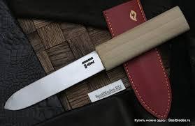 Купить <b>Нож</b> Ikeuchi <b>Makiri 135</b> мм (Shirogami,кожаные ножны) за ...