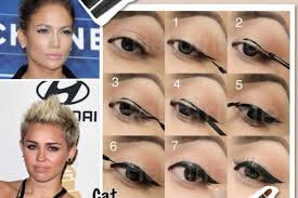 as you learn the below steps on how can apply cat eyes eyeliner it is