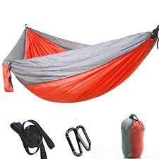 NFNFUNNM <b>Double Portable Camping Hammock</b> Tent Mosquito ...