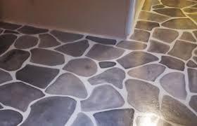 Painting Linoleum Kitchen Floor Painting Rocks On The Kitchen Floor Welcome Travelers