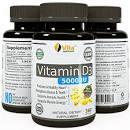 Vita Optimum Vitamin D3 5000 IU - Certified Organic Olive Oil  360 minigels  GMO-Free   USA