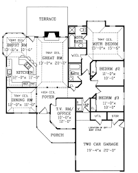 Tucson Contemporary Ranch Home Plan D    House Plans and MoreModern House Plan First Floor   D    House Plans and More