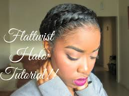 Natural Twist Hairstyles Natural Hair Protective Styling Halo Tutorial Youtube
