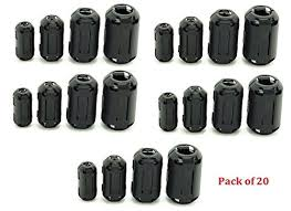 Amazon.com: AUCH <b>20Pcs</b> Clip-on Ferrite Ring Core Black RFI EMI ...