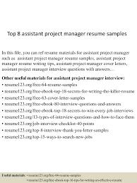 topassistantprojectmanagerresumesamples conversion gate thumbnail jpg cb