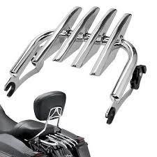 <b>Chrome Detachable Stealth Luggage</b> Rack Fit 09-19 Harley Touring ...