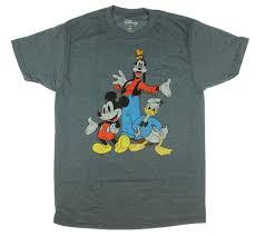 <b>Disney</b> Big Three <b>Trio Mickey Mouse</b> Donald Duck Goofy T-Shirt ...