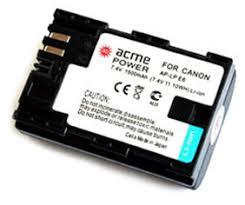 <b>Аккумулятор</b> для фотоаппарата <b>AcmePower AP LP</b>-<b>E6</b> купить в ...