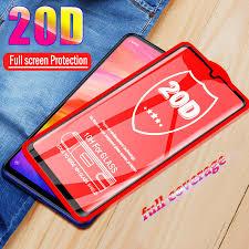 <b>20D Tempered Glass For</b> Xiaomi Redmi Note 7 Glass 5 6 6A K20 ...