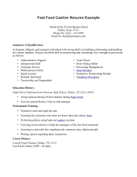 fast food resume sample com fast food resume sample to inspire you how to create a good resume 7