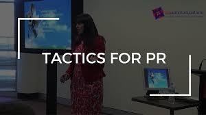 tactics for pr tactics for pr