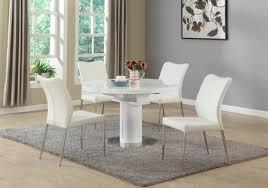 white piece dining room
