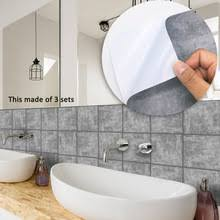 10PCS American Style <b>Tile Sticker</b> Waterproof <b>Bathroom Kitchen</b> ...