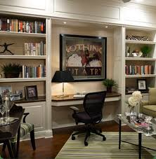 great built in shelving desk nook the lighting is the key to this great built office desk