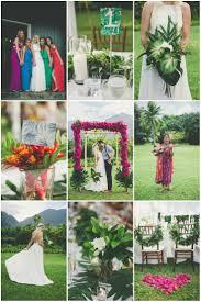 flowers wedding decor bridal musings blog: colourful hawaiian wedding maui maka photography bridal musings wedding blog