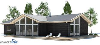 Small House Plan CH   vaulted ceiling  Small Home Design    Small House CH