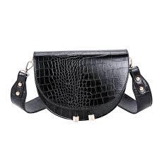 <b>Luxury</b> Crocodile Pattern Crossbody <b>Bag</b> for Women Half <b>Round</b> ...