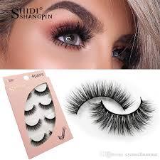 <b>SHIDISHANGPIN 4 pairs mink</b> eyelashes false lashes extension ...