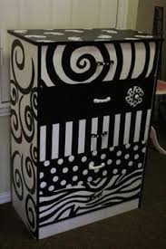 painted black and white furniture