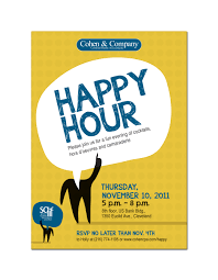 cohen company by lauren beck at coroflot com happy hour invitation mockup h favorite qview full size