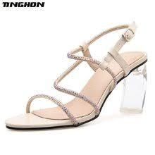 glass sandal